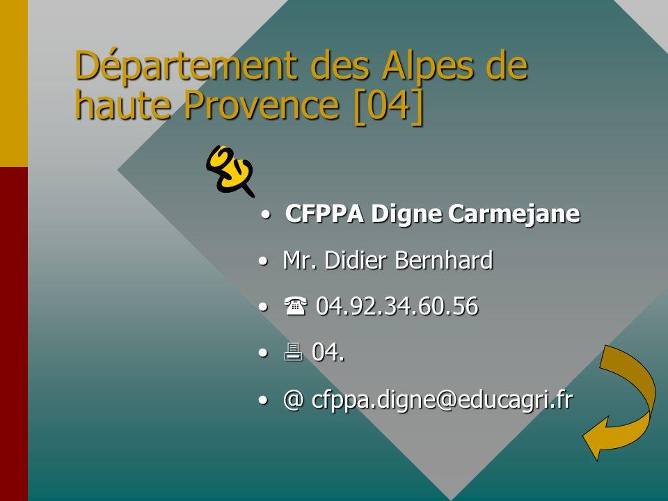 Département des Alpes de haute Provence [04]